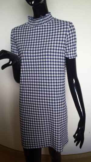 ZARA, kurzes Kleid blau-weiß kariert, Gr.S