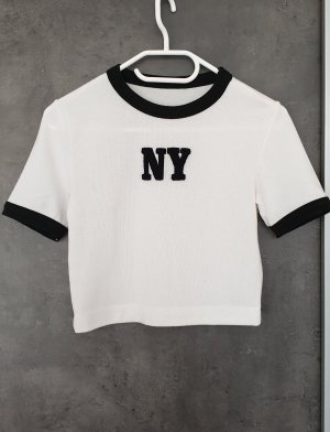 Zara Kurzes Shirt NY cropped Top bauchfrei