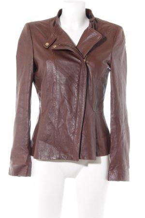 Zara Veste courte brun style décontracté