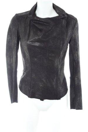 Zara Veste courte noir Look de motard