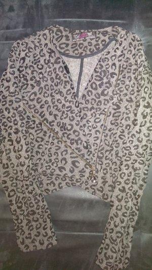 Zara Kurzjäckchen Gr.M,grauem Leopardenmuster