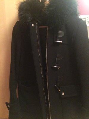 Zara Manteau à capuche noir-doré