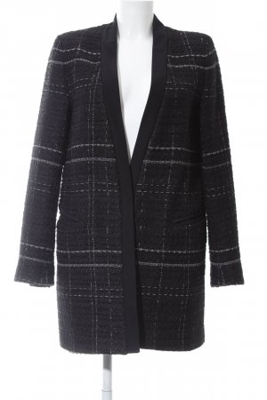 Zara Short Coat black-white allover print business style