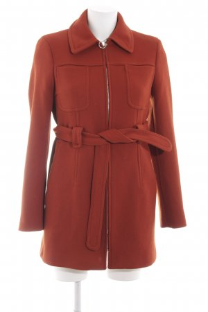 Zara Kurzmantel rot Casual-Look