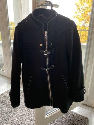 Zara Abrigo corto negro-color plata