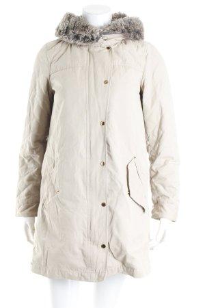 Zara Manteau court beige motif de courtepointe style décontracté