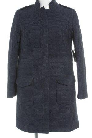 Zara Manteau court bleu-noir moucheté élégant