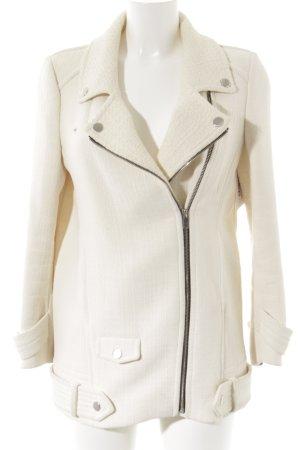 Zara Manteau court crème-argenté style mode des rues