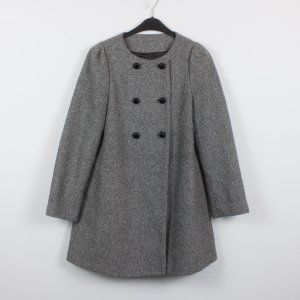 Zara Short Coat light grey mixture fibre