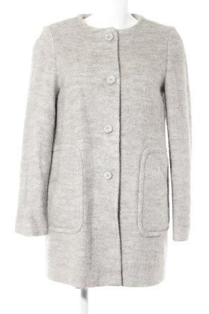 Zara Manteau court gris clair moucheté style décontracté