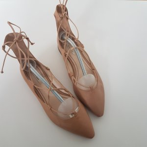 Zara Lace Up Ballerinas