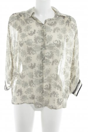 Zara Long Sleeve Blouse abstract pattern casual look