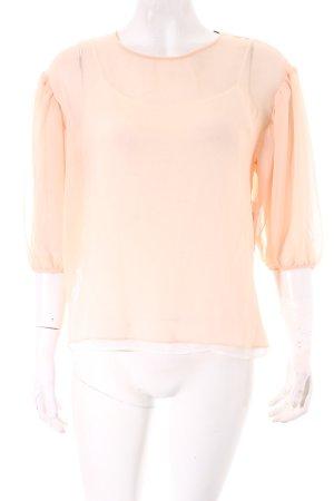 Zara Langarm-Bluse apricot Romantik-Look