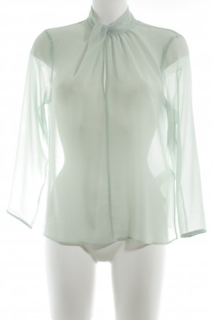 Zara Long Sleeve Blouse pale green business style