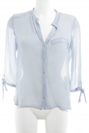 Zara Langarm-Bluse blau-weiß Streifenmuster Casual-Look