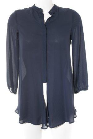 Zara Langarm-Bluse dunkelblau Casual-Look
