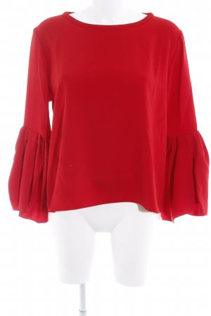Zara Camicetta a maniche lunghe rosso scuro elegante