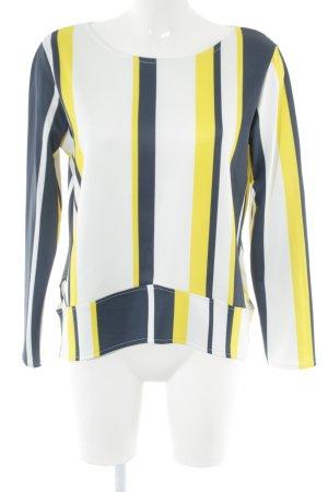 Zara Langarm-Bluse Streifenmuster Casual-Look