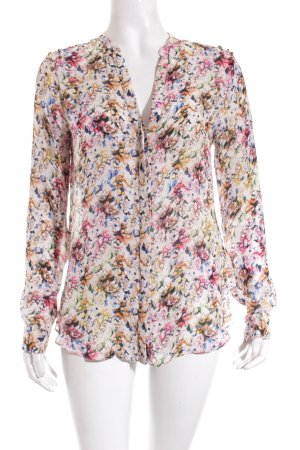 Zara Long Sleeve Blouse floral pattern casual look
