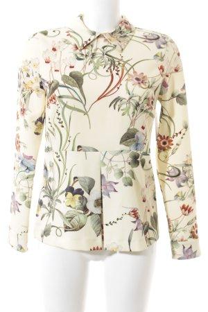 Zara Langarm-Bluse florales Muster Elegant