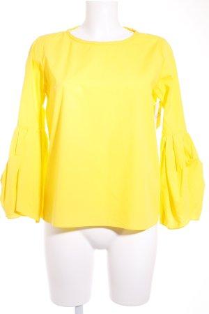 Zara Langarm-Bluse gelb Romantik-Look
