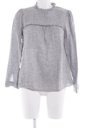 Zara Blusa de manga larga gris claro look casual