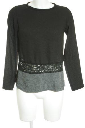 Zara Langarm-Bluse schwarz schlichter Stil