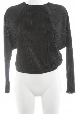 Zara Long Sleeve Blouse black street-fashion look
