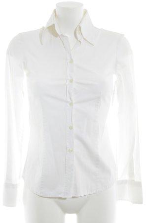 Zara Blouse à manches longues blanc style décontracté