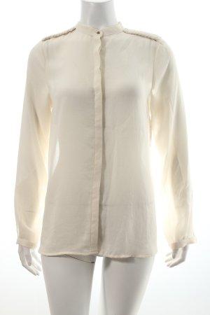Zara Langarm-Bluse wollweiß schlichter Stil
