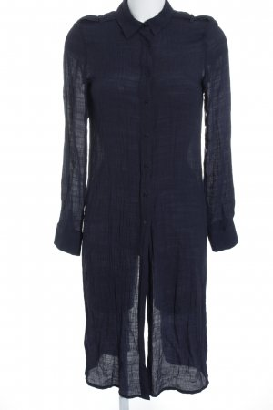 Zara Langarmhemd dunkelblau