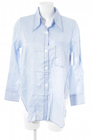 Zara Chemise à manches longues bleu clair style d'affaires