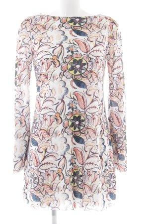 Zara Vestido de manga larga estampado repetido sobre toda la superficie