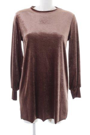 Zara Langarmkleid bronzefarben Glanz-Optik