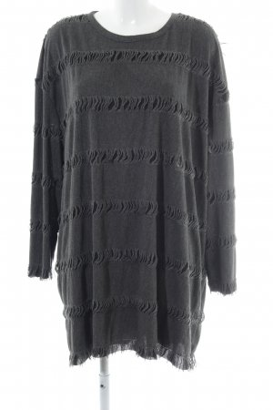 Zara Langarmkleid anthrazit Casual-Look