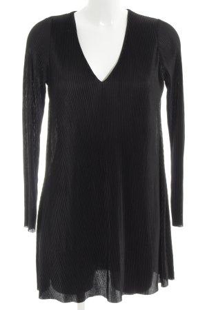 Zara Longsleeve Dress black striped pattern elegant
