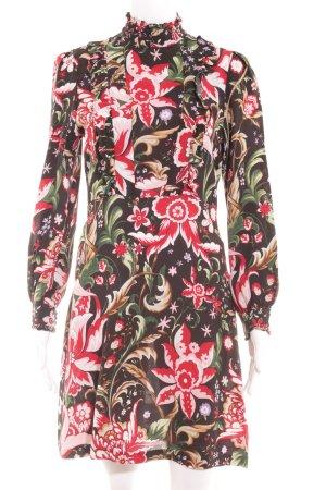 Zara Langarmkleid florales Muster Elegant