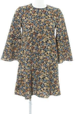 Zara Langarmkleid florales Muster Gypsy-Look