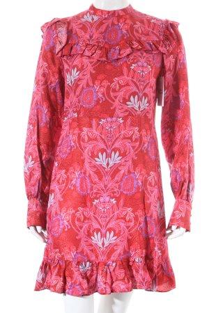Zara Langarmkleid florales Muster Romantik-Look