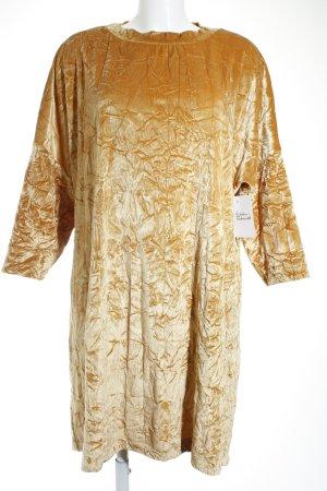 Zara Langarmkleid goldfarben extravaganter Stil