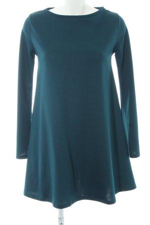 Zara Vestido de manga larga azul cadete look casual