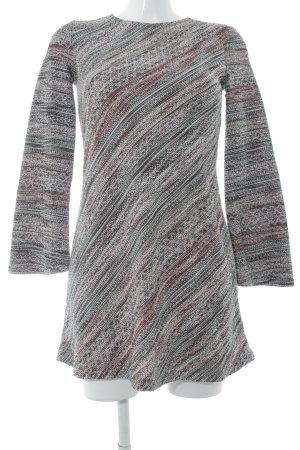 Zara Langarmkleid mehrfarbig Casual-Look