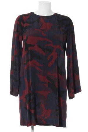 Zara Robe à manches longues rouille-bleu foncé motif de camouflage