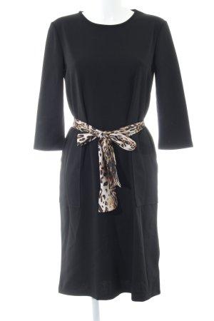 Zara Jurk met lange mouwen zwart-bruin luipaardprint elegant