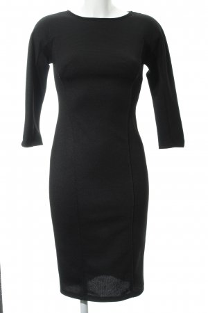 Zara Vestido de manga larga negro estilo sencillo