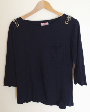 Zara Langarmshirt in Navy
