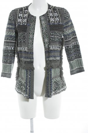Zara Lange Jacke dunkelgrün-khaki extravaganter Stil