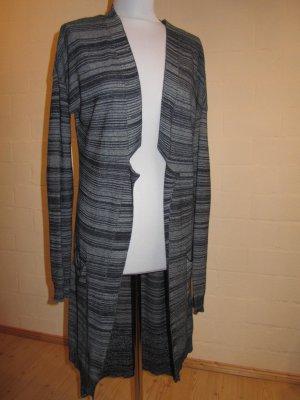 Zara: Lange Strickjacke, Blautöne, Gr. S, NEU