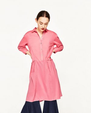 Zara Robe tunique rose