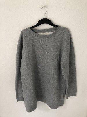 Zara langes Sweatshirt Hellgrau